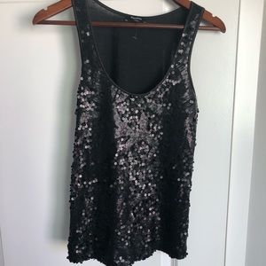 NWOT Express sequined sleeveless top